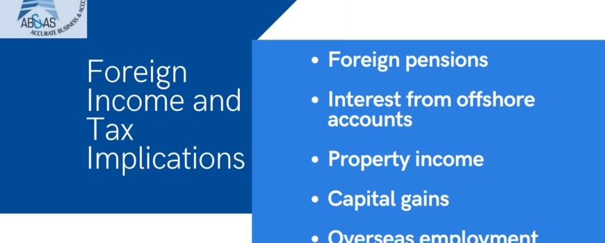 Foreign Income and Tax Implications